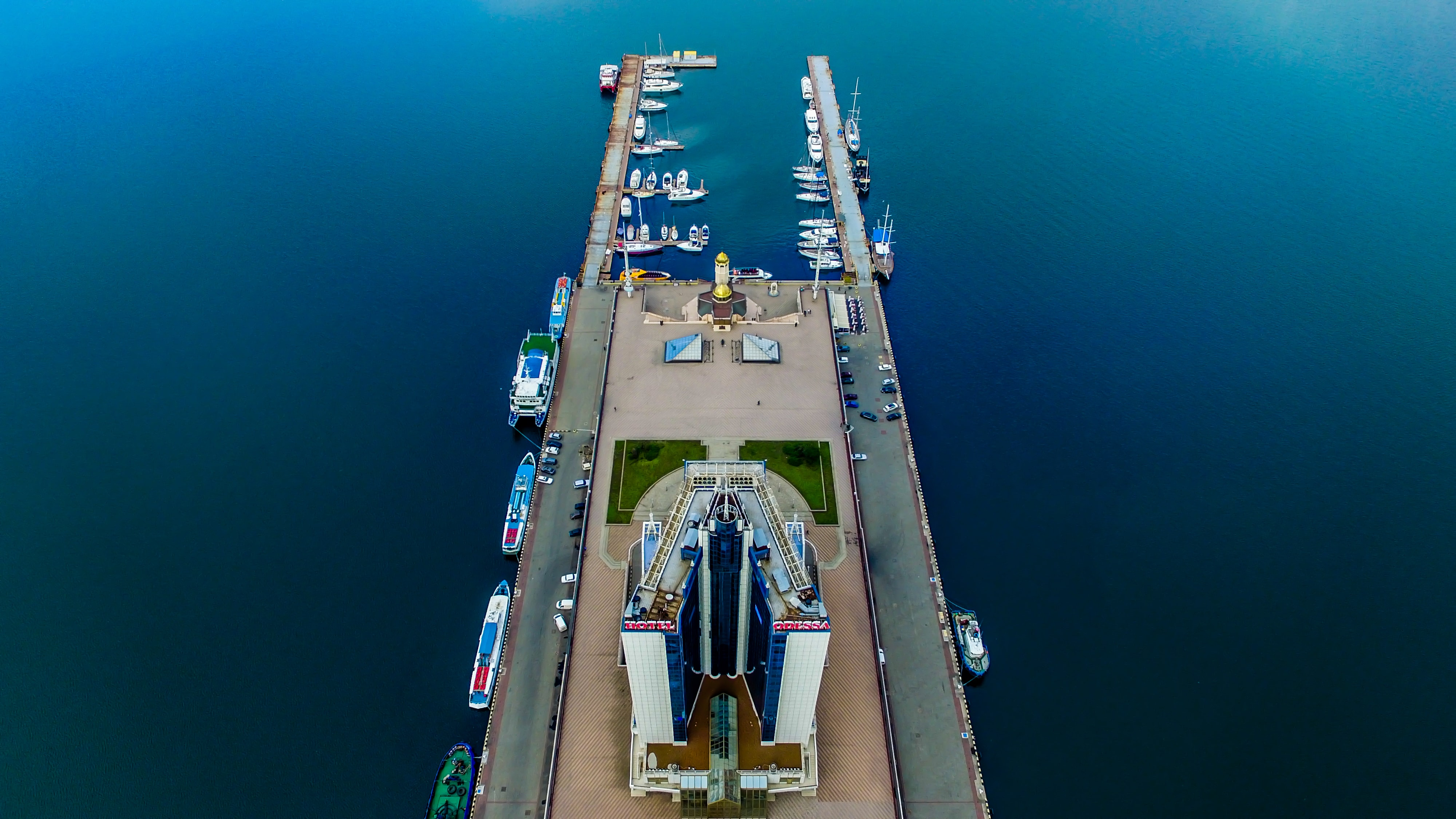 bird's eye view photography of boats