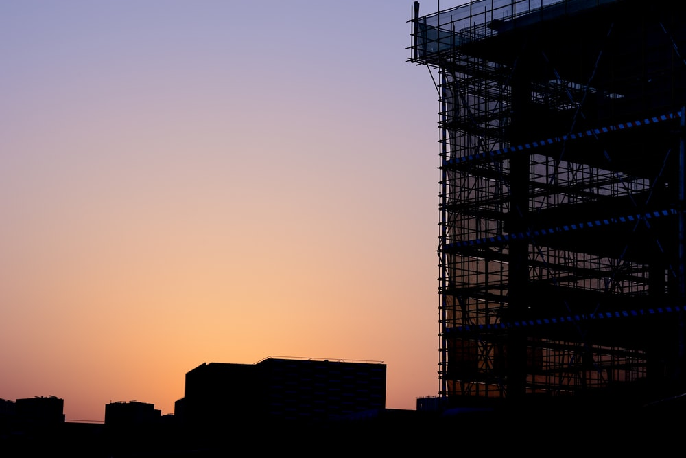 silhouette of building
