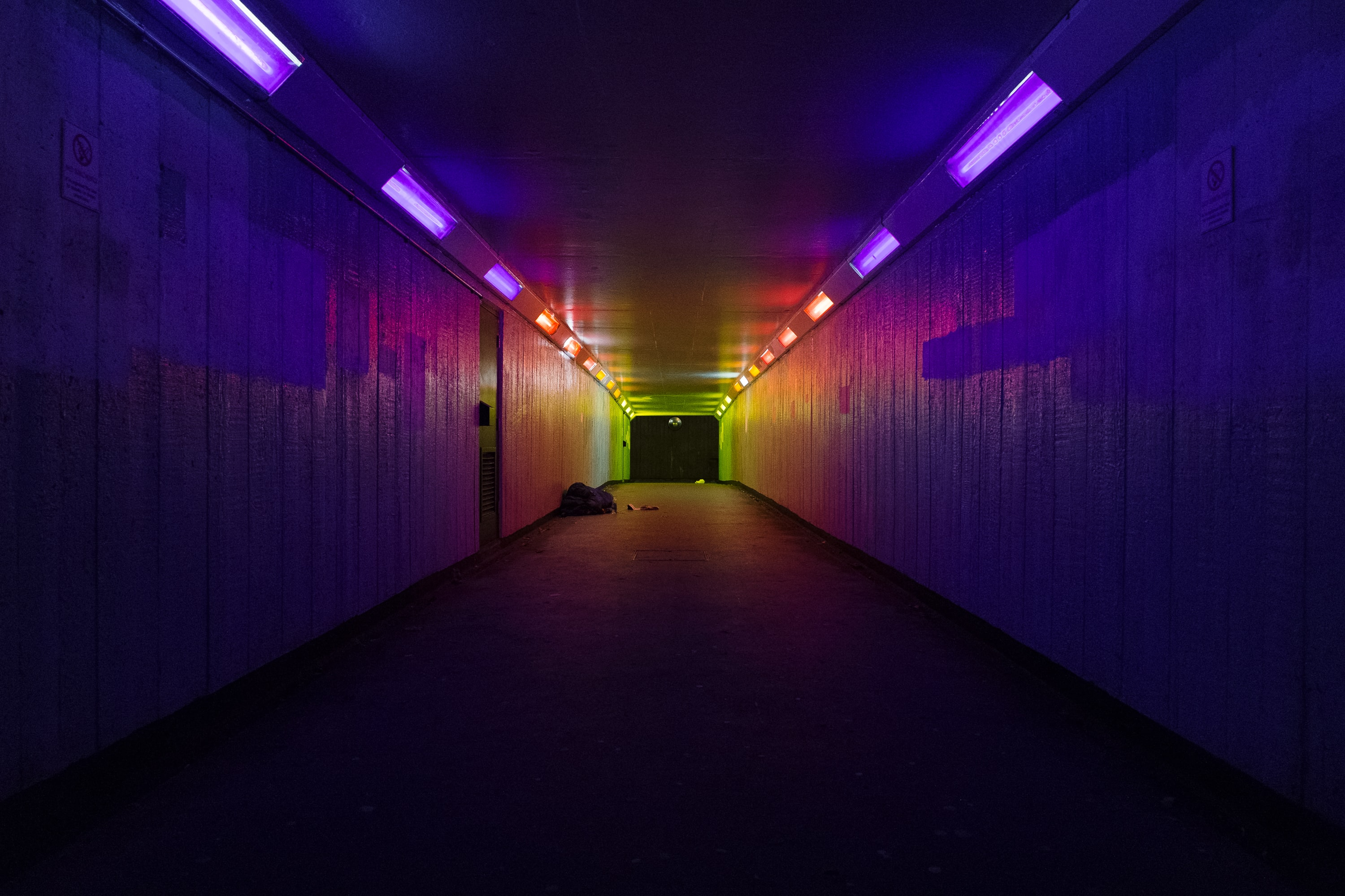 photography of tunnel pathway