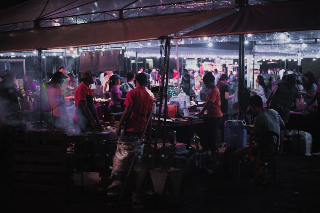 Night life at street