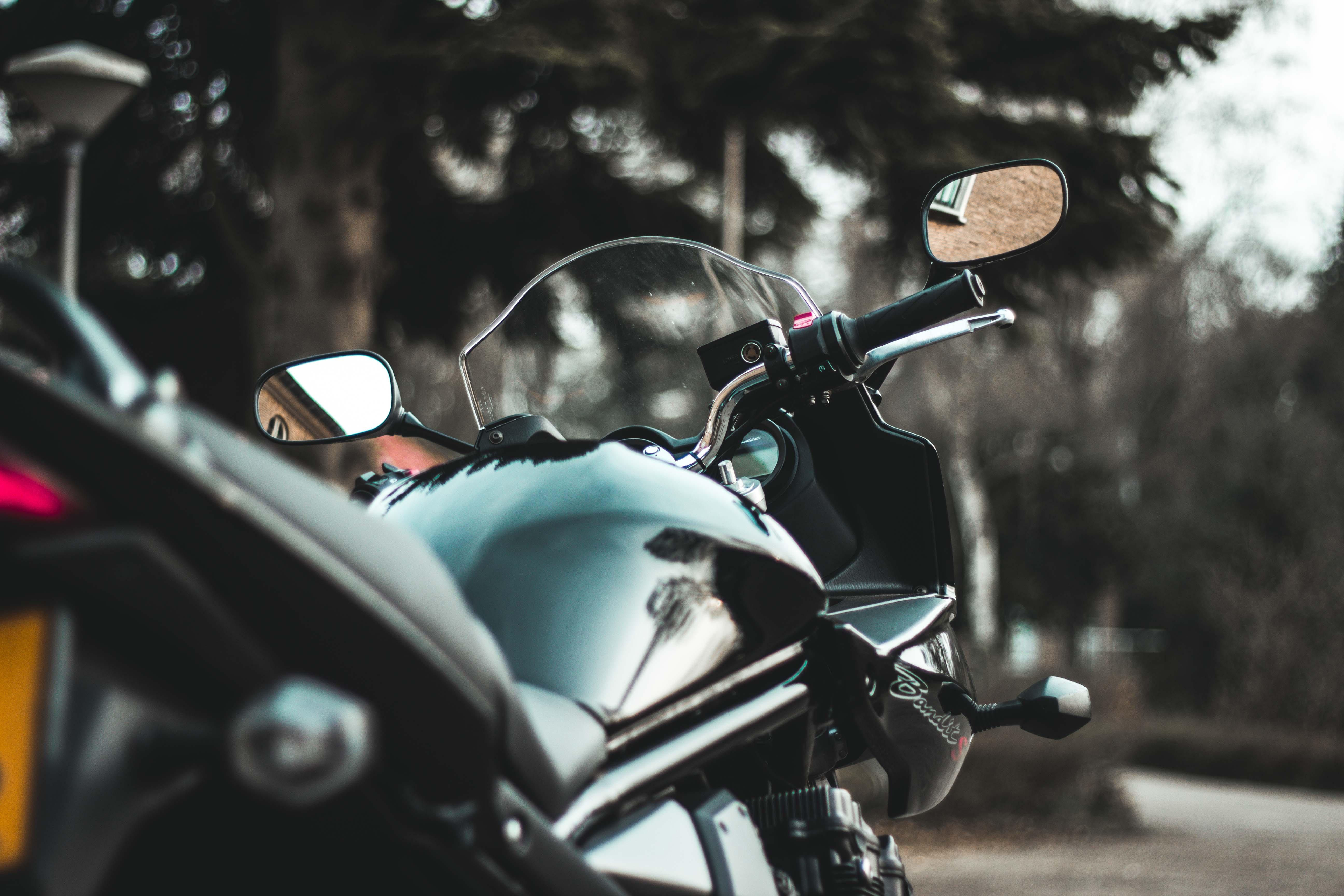 black sports bike