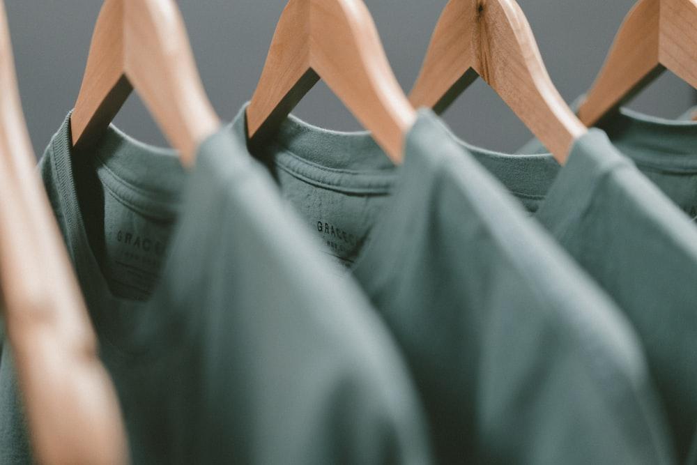 green clothes hanger