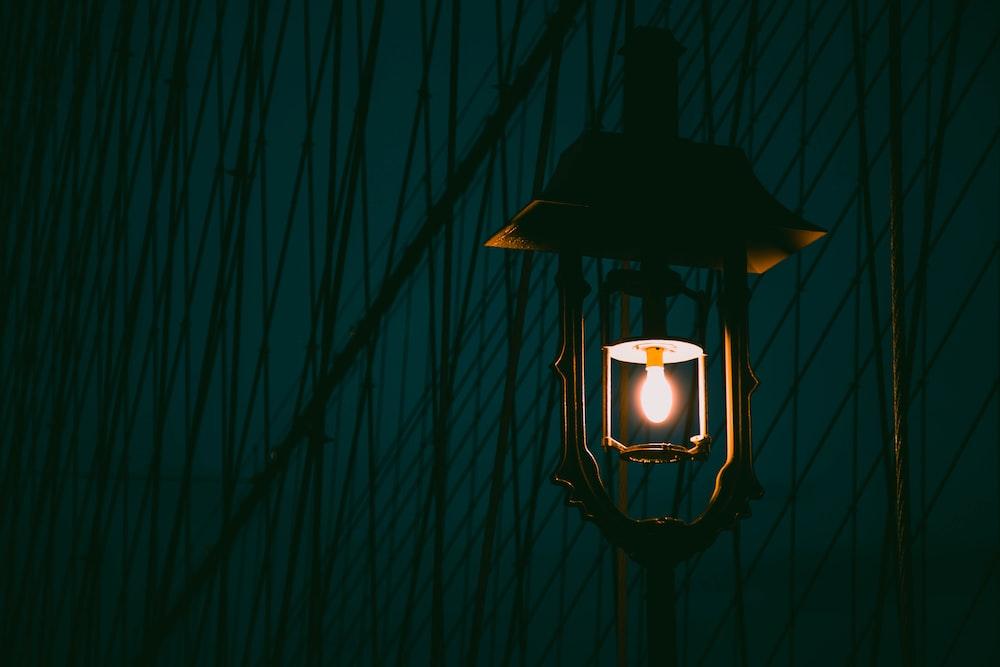brown light post
