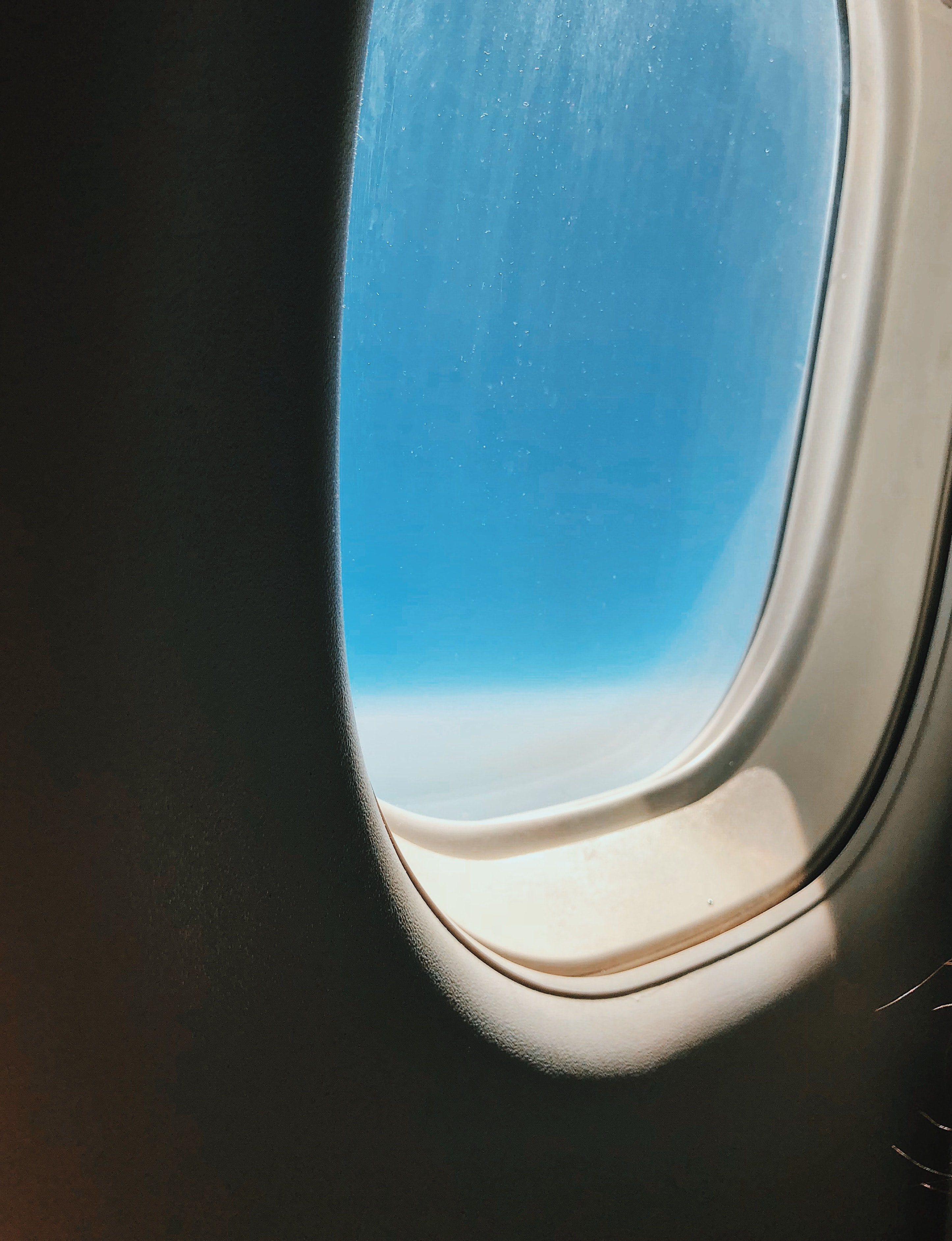 view of sky from aircraft window