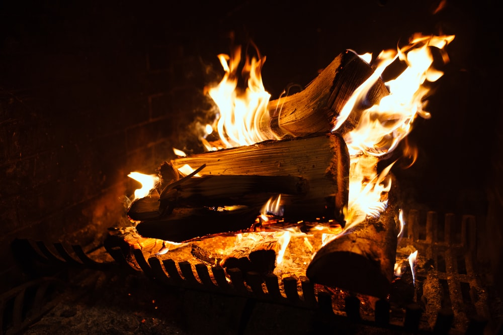 time-lapse photography of burning wood