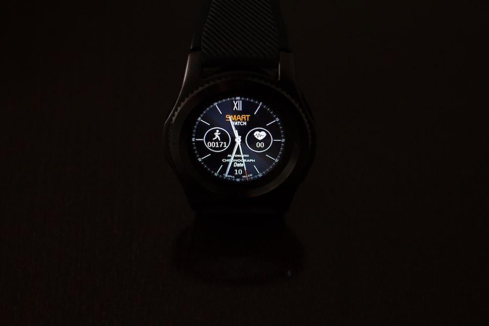 round black smartwatch