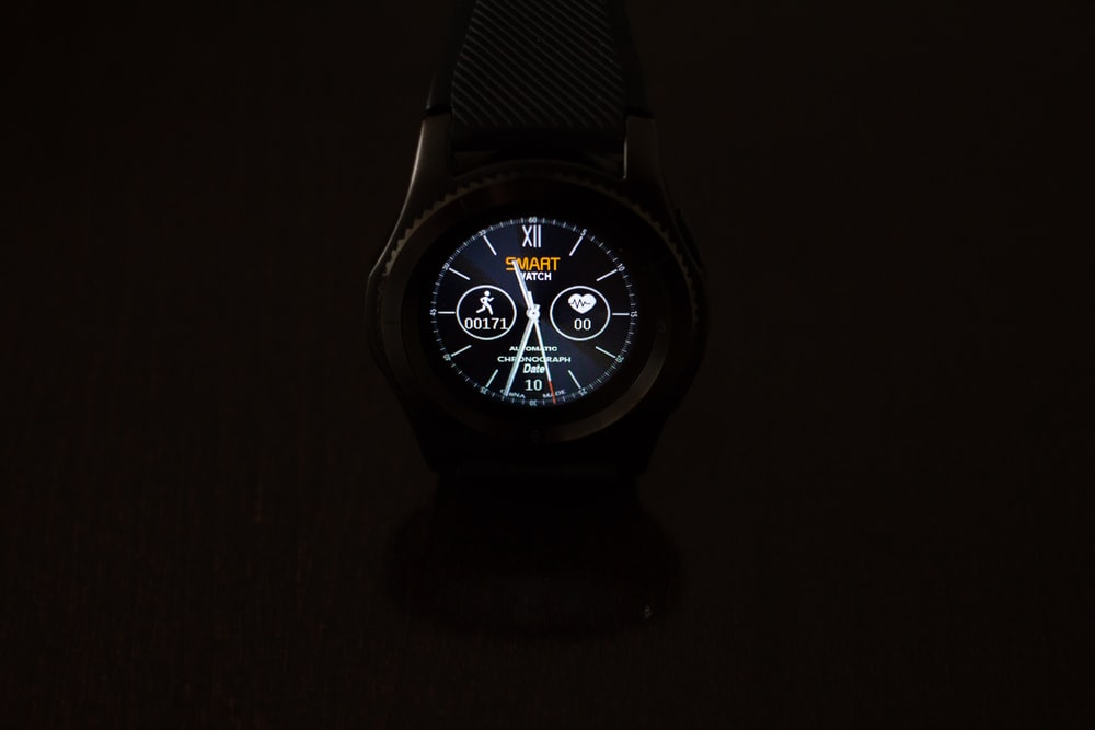 round black smartwatch