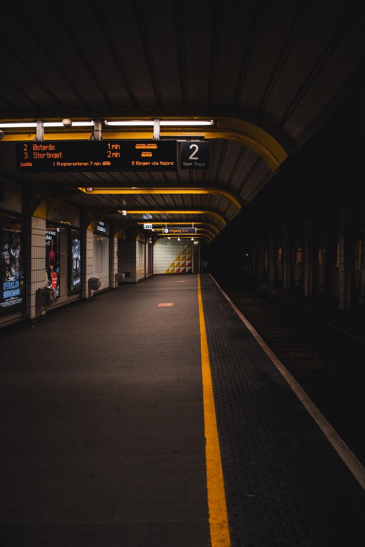 train station showing signage
