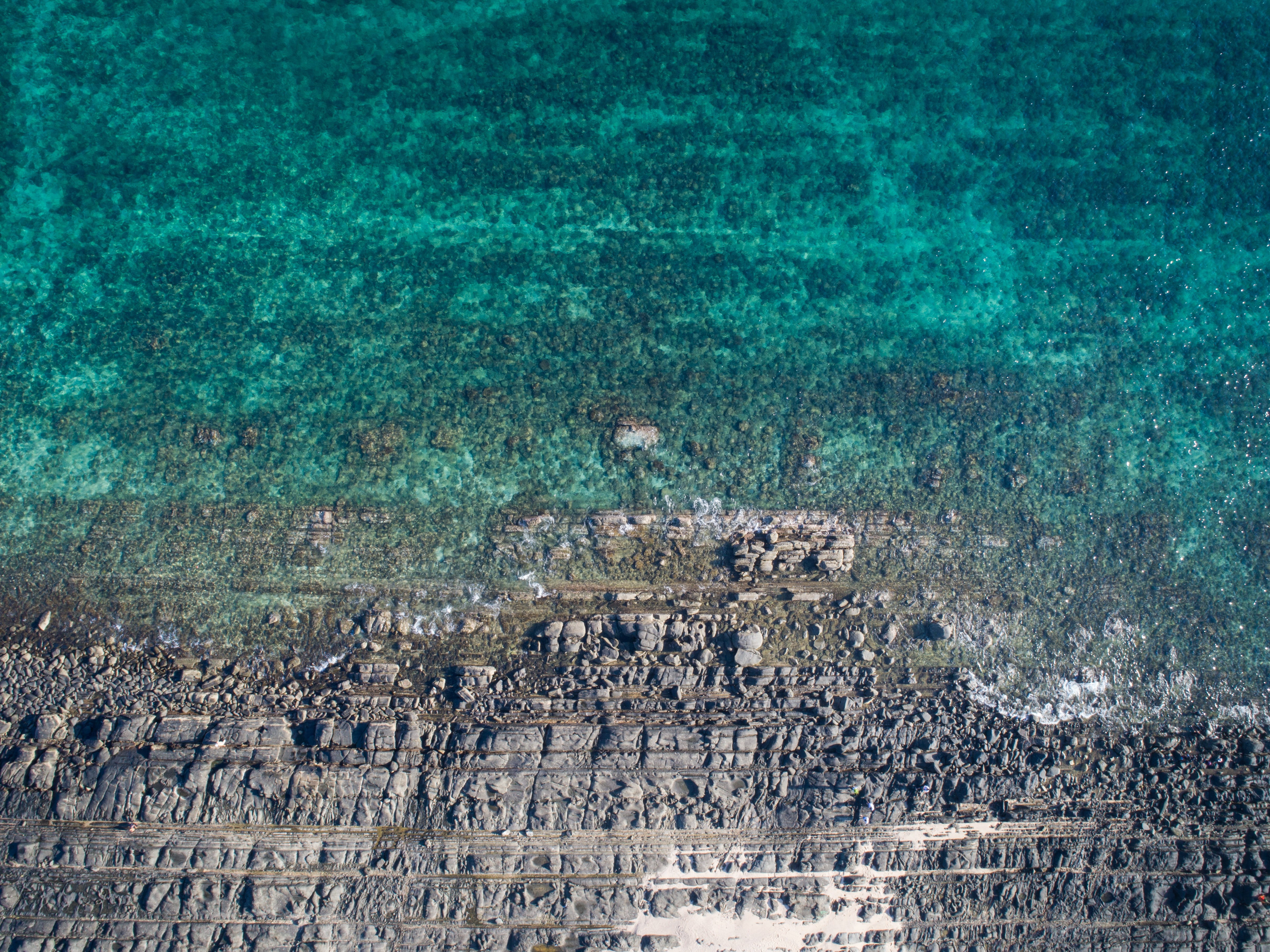 bird's eye view photography of coastline