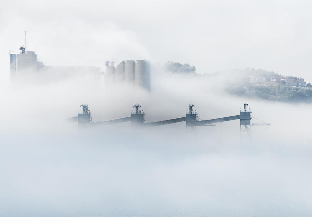 long exposure photography of white smoke