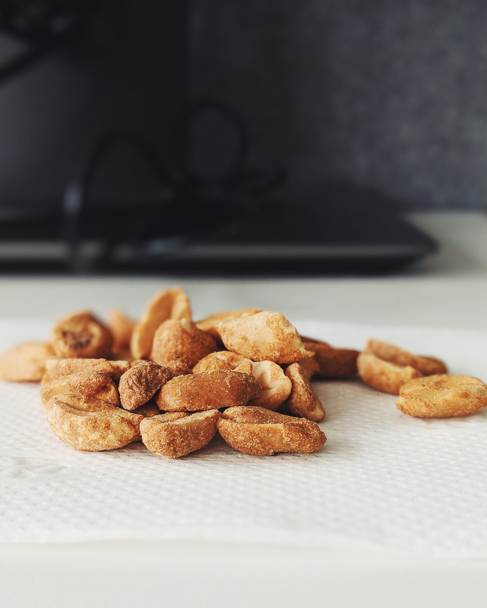 shallow focus of nuts