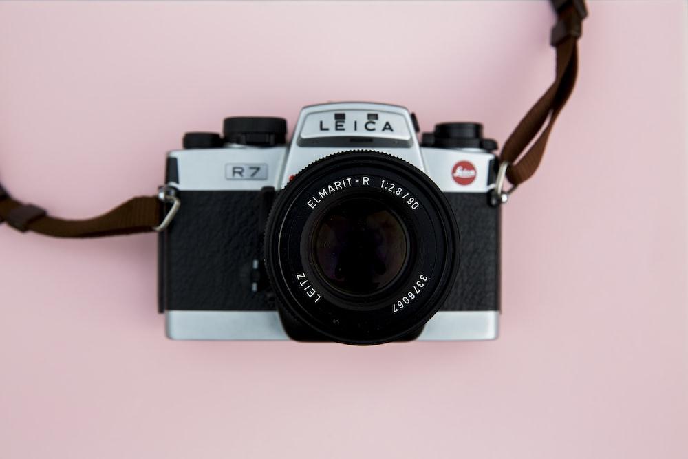 black and gray Leica R7 film camera
