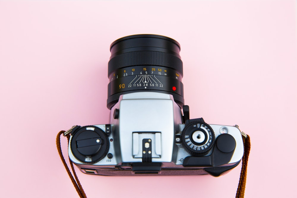shallow focus of DSLR camera