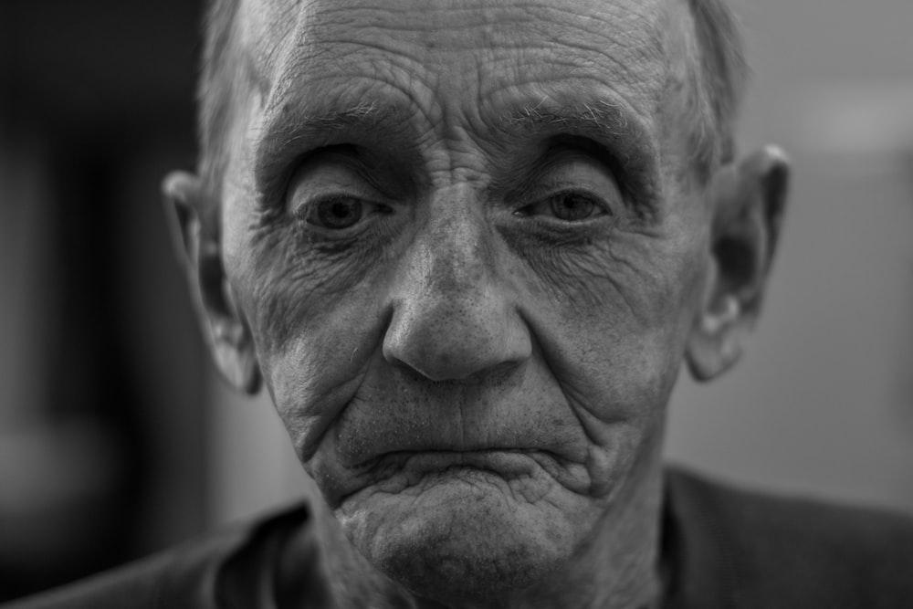 man making sad face