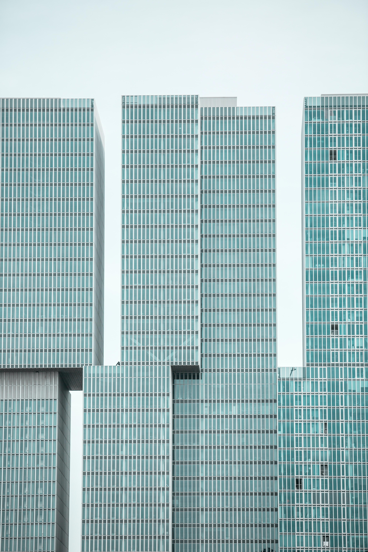 clear glass hi-rise building