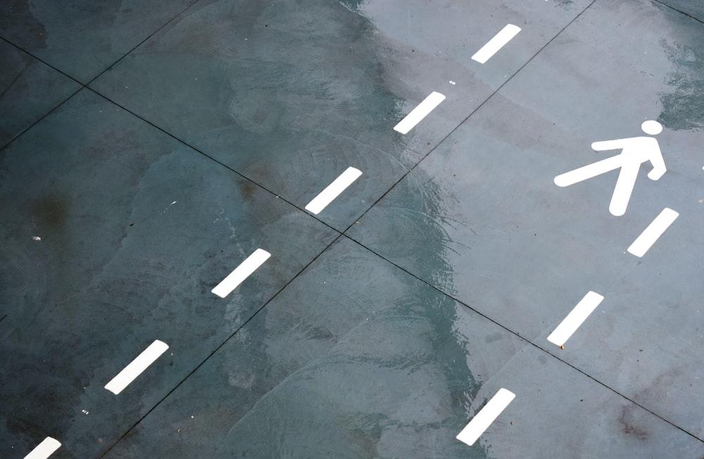 aerial shot of concrete pavement