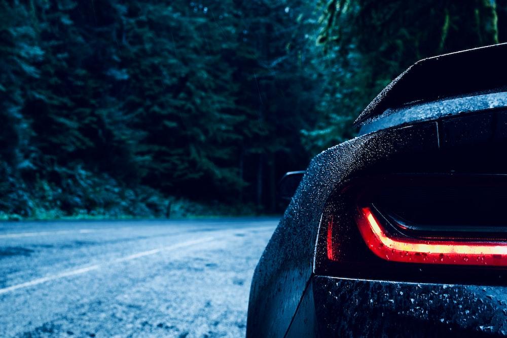 shallow focus of car