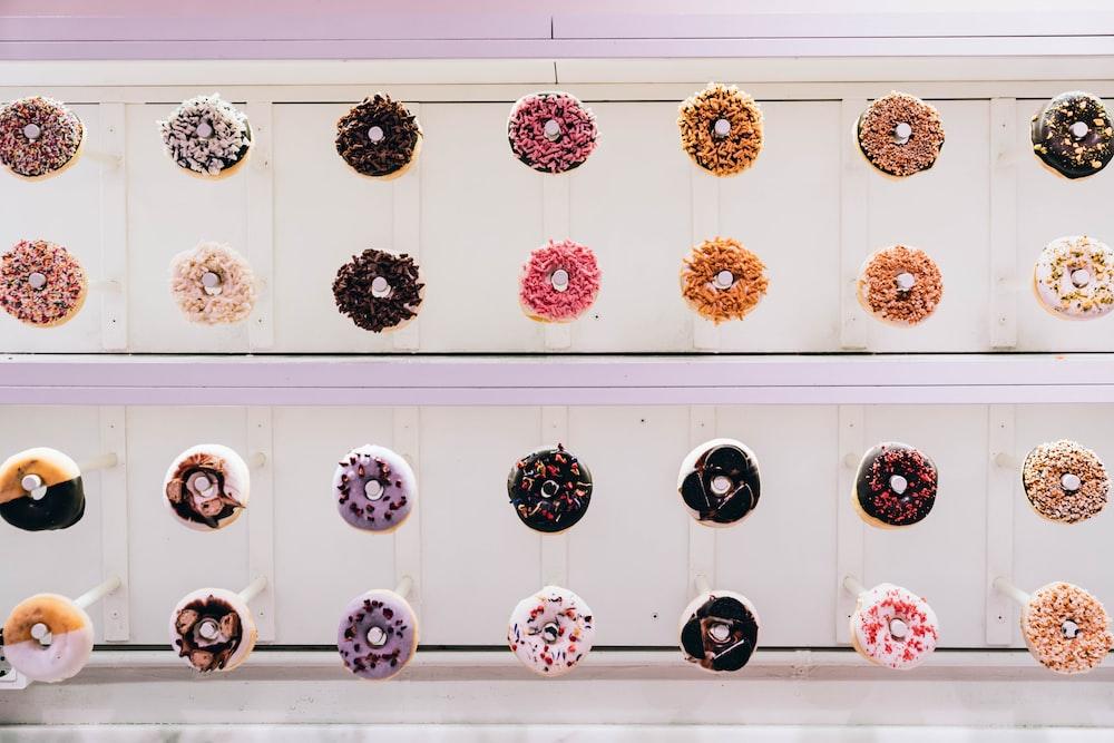 assorted-color sprinkled donut lot