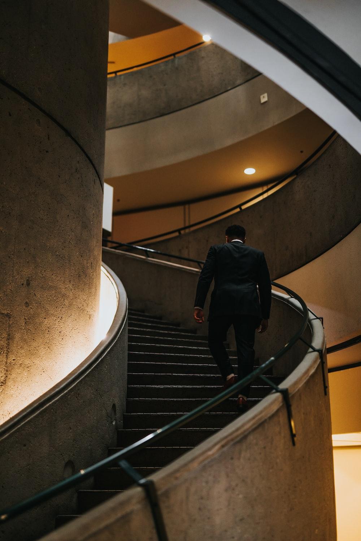 man at stairs