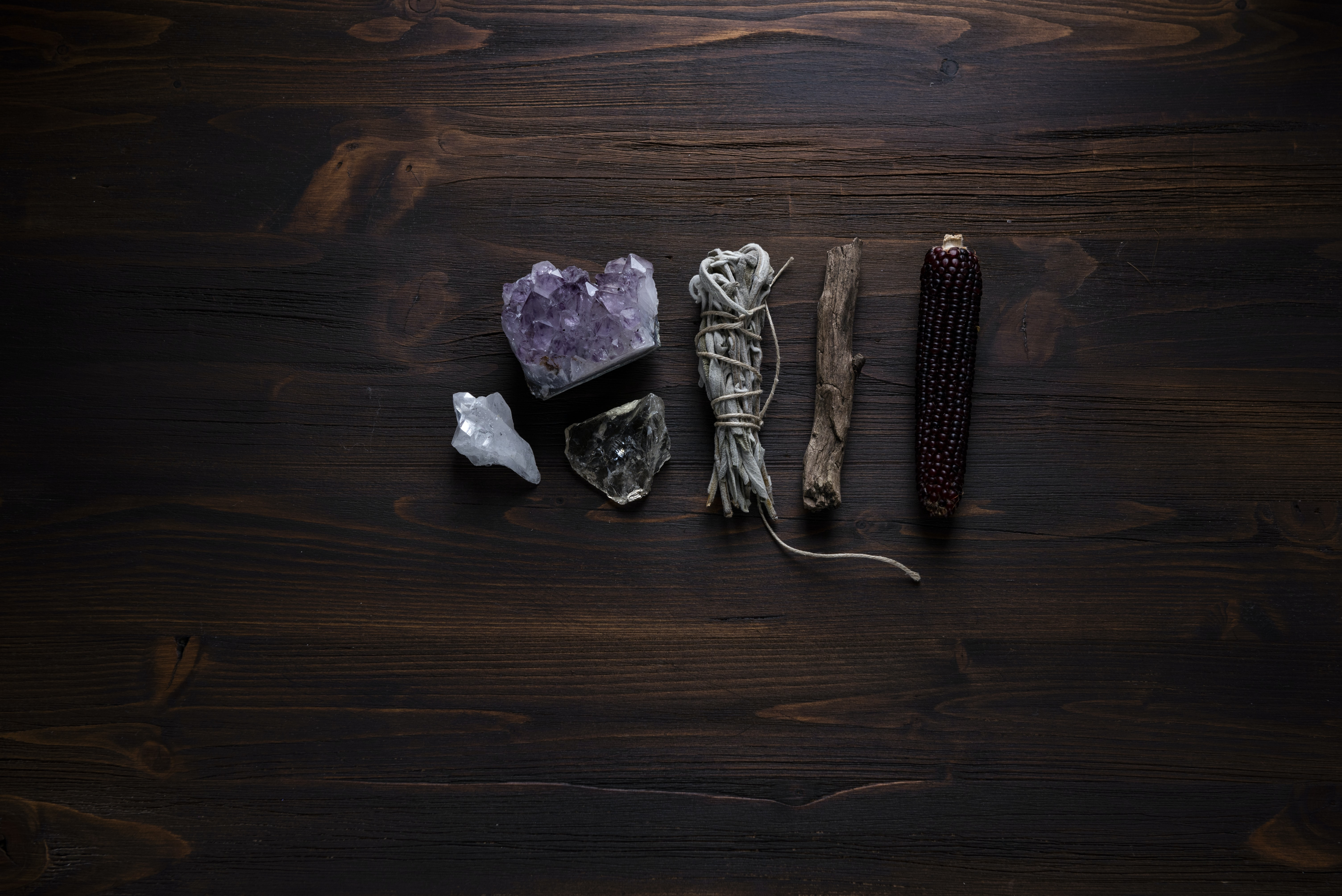 flat lay photography of geodes