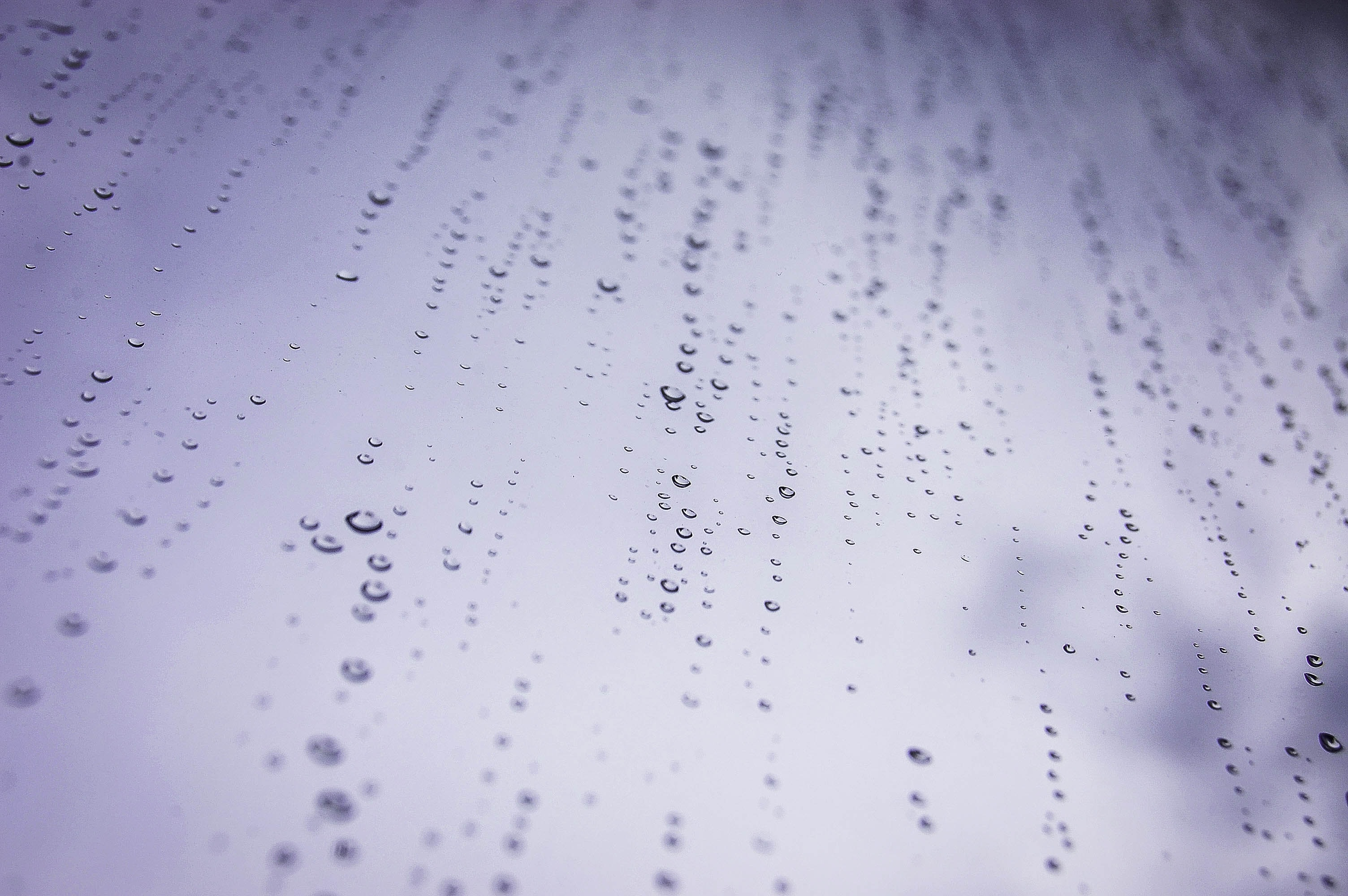 macro photograph of water dew drops on glass panel