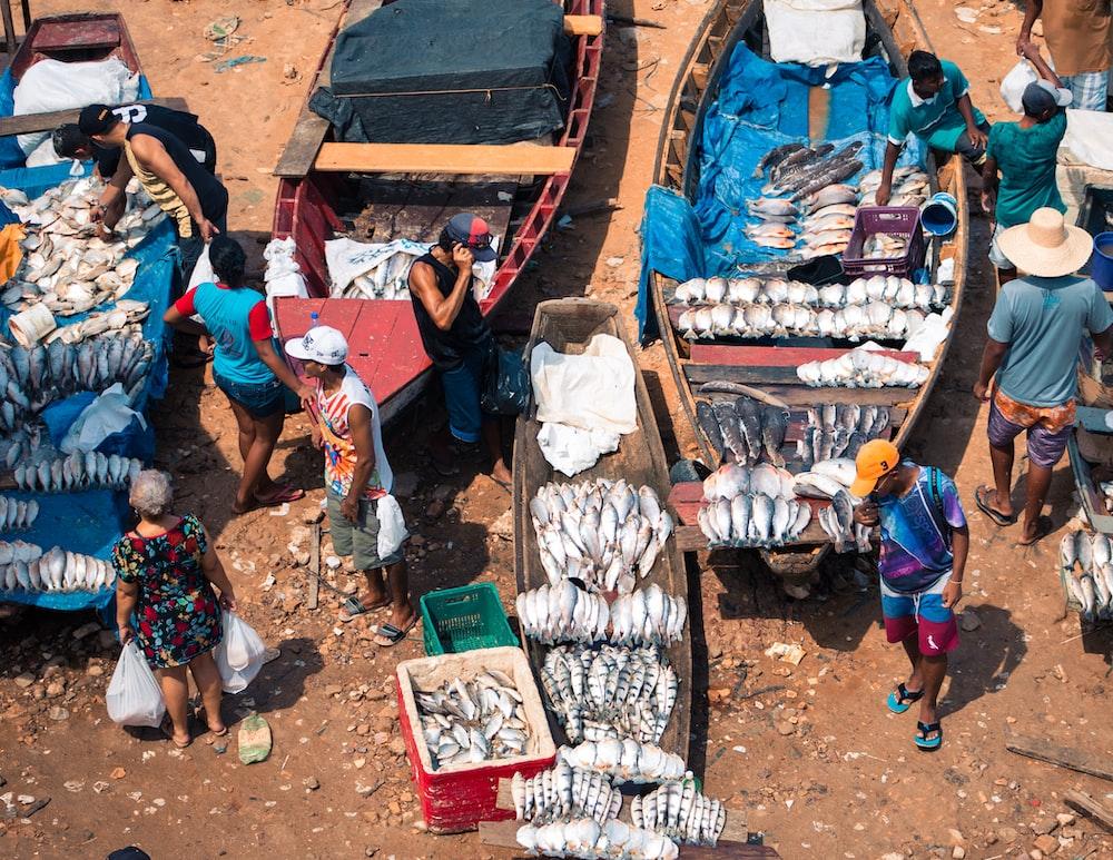 people selling fish