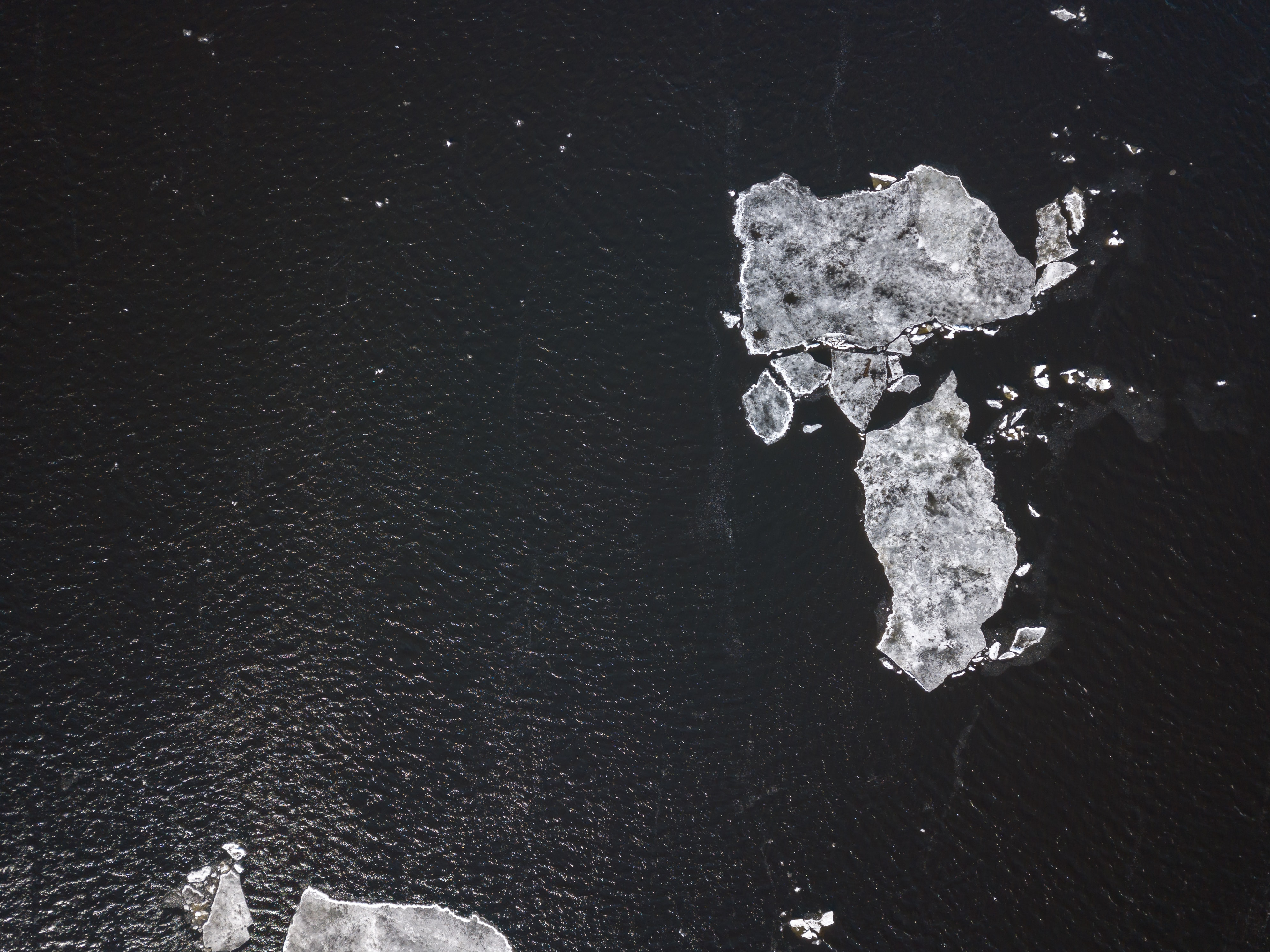 aerial photography of ice sheets