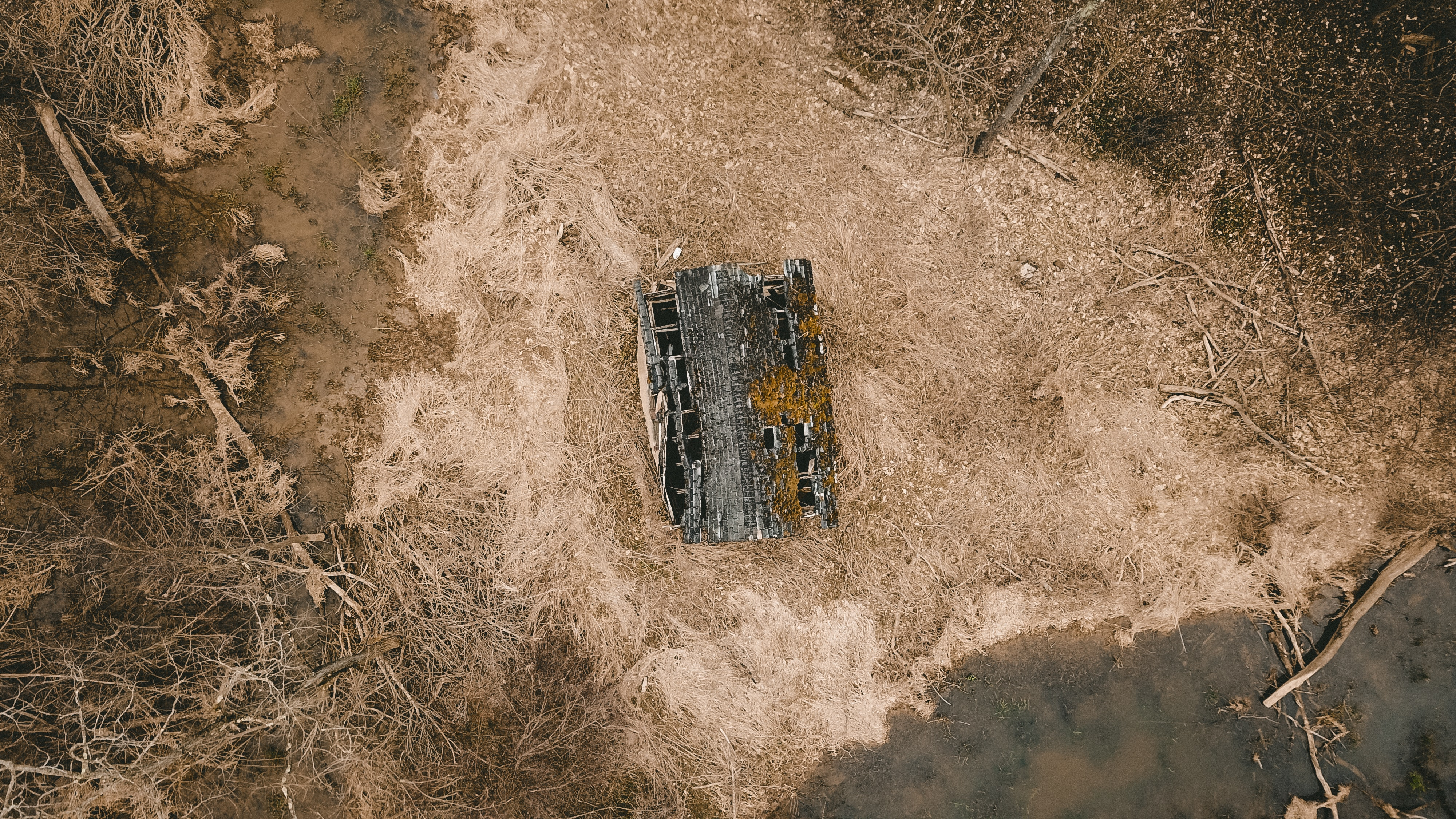 aerial photography of house near forest