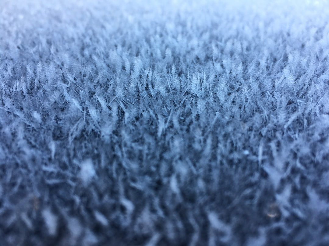 I was stepping into my car when I noticed the frost that had formed on the sunroof glass. it was like little ice crystals instead of a layer of frost which we normally receive. I just thought it looked neat and figured I'd snap a couple photos to see how they turned out.