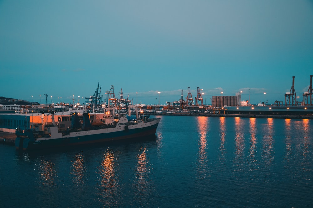 ship on body of water during nighttime