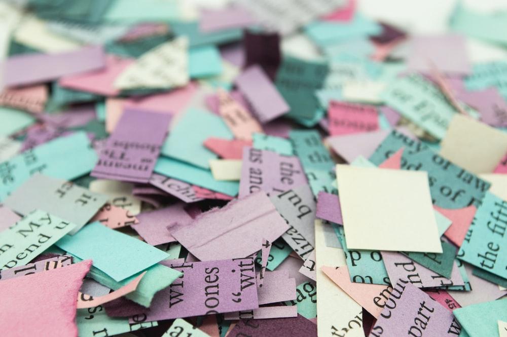 assorted-color printer paper lot