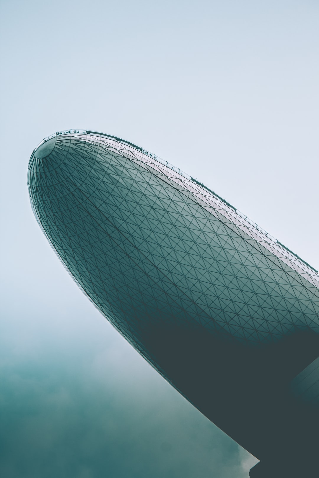 The underside of the Marina Bay Sands building in Singapore