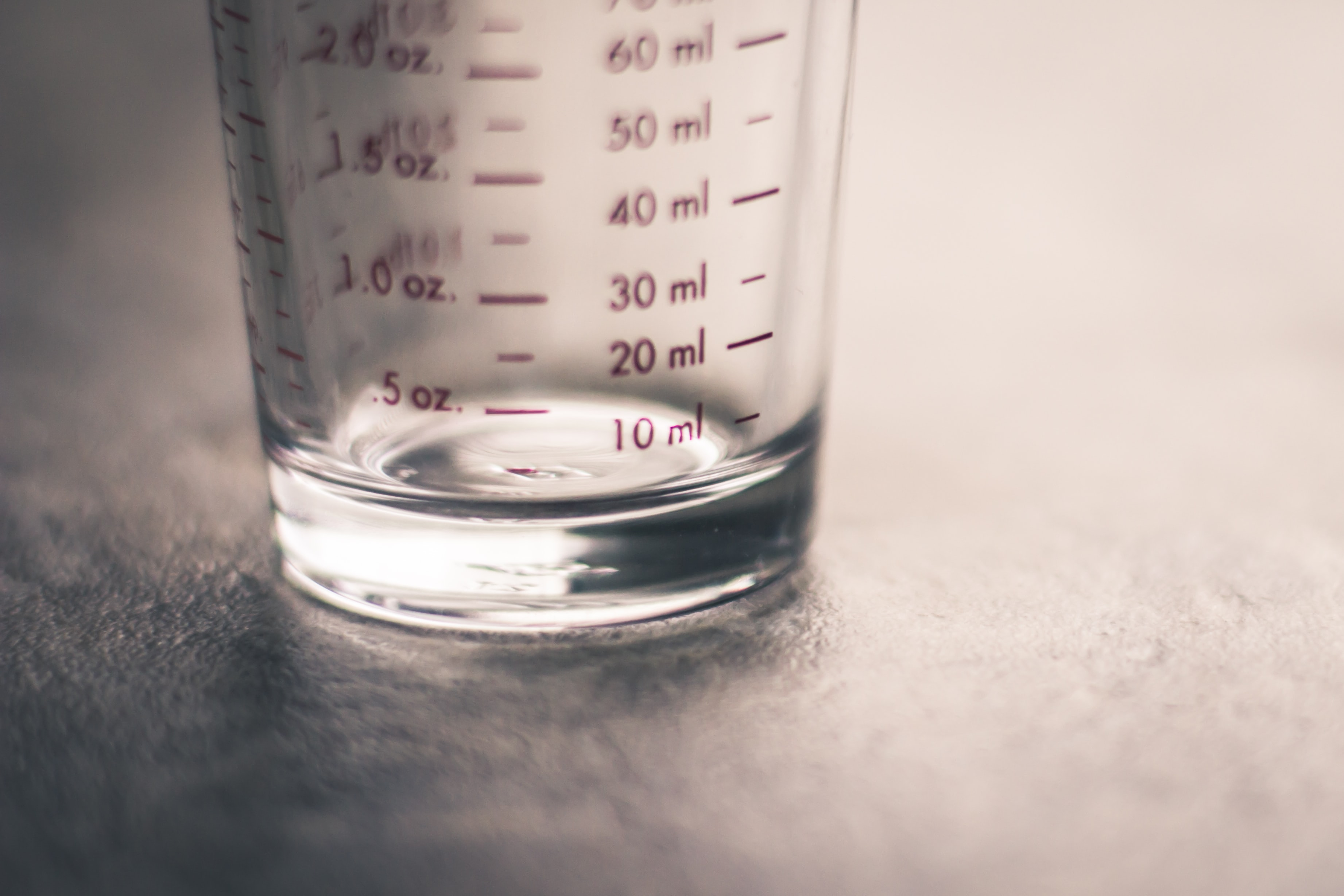 clear measuring glass
