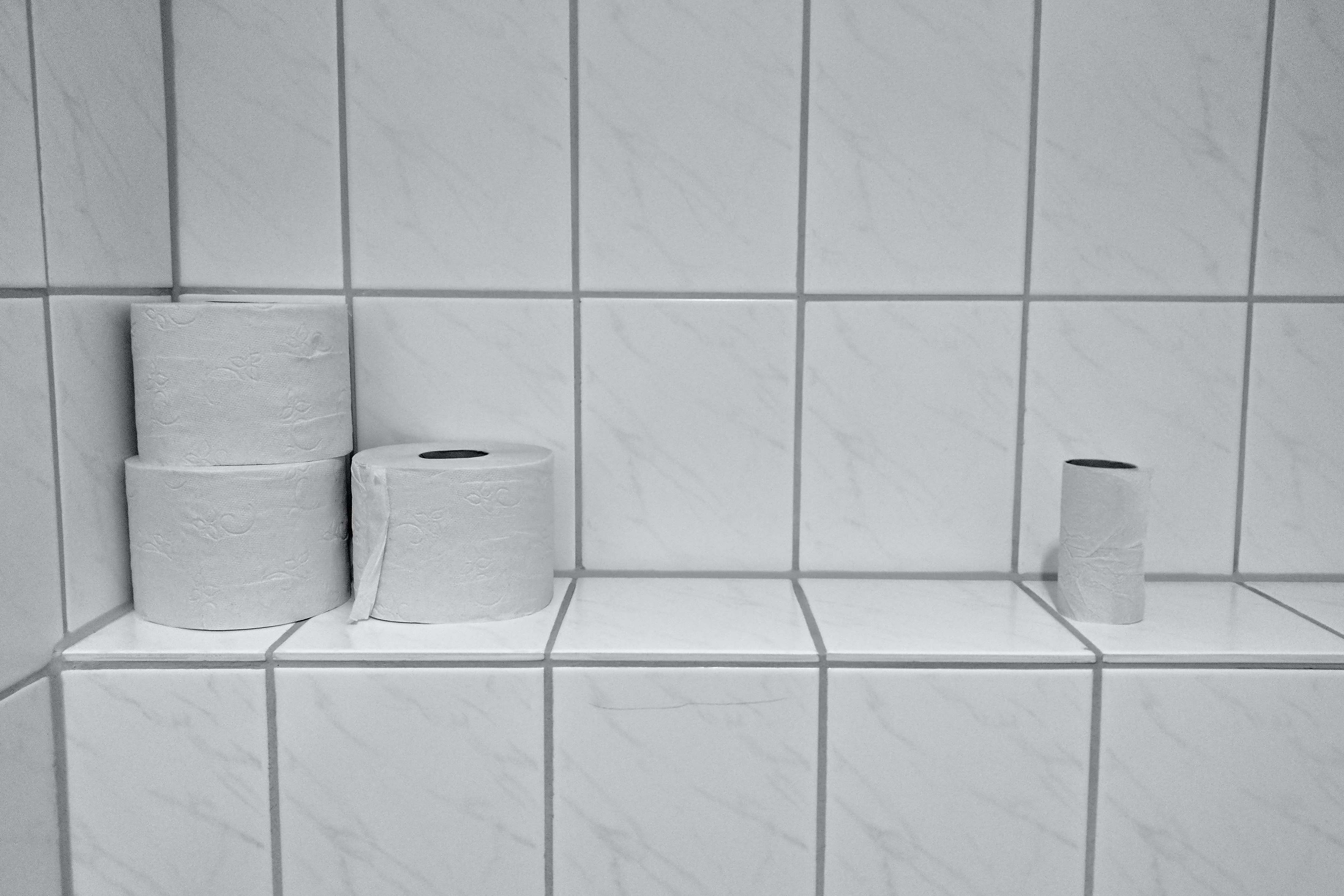 three toilet papers
