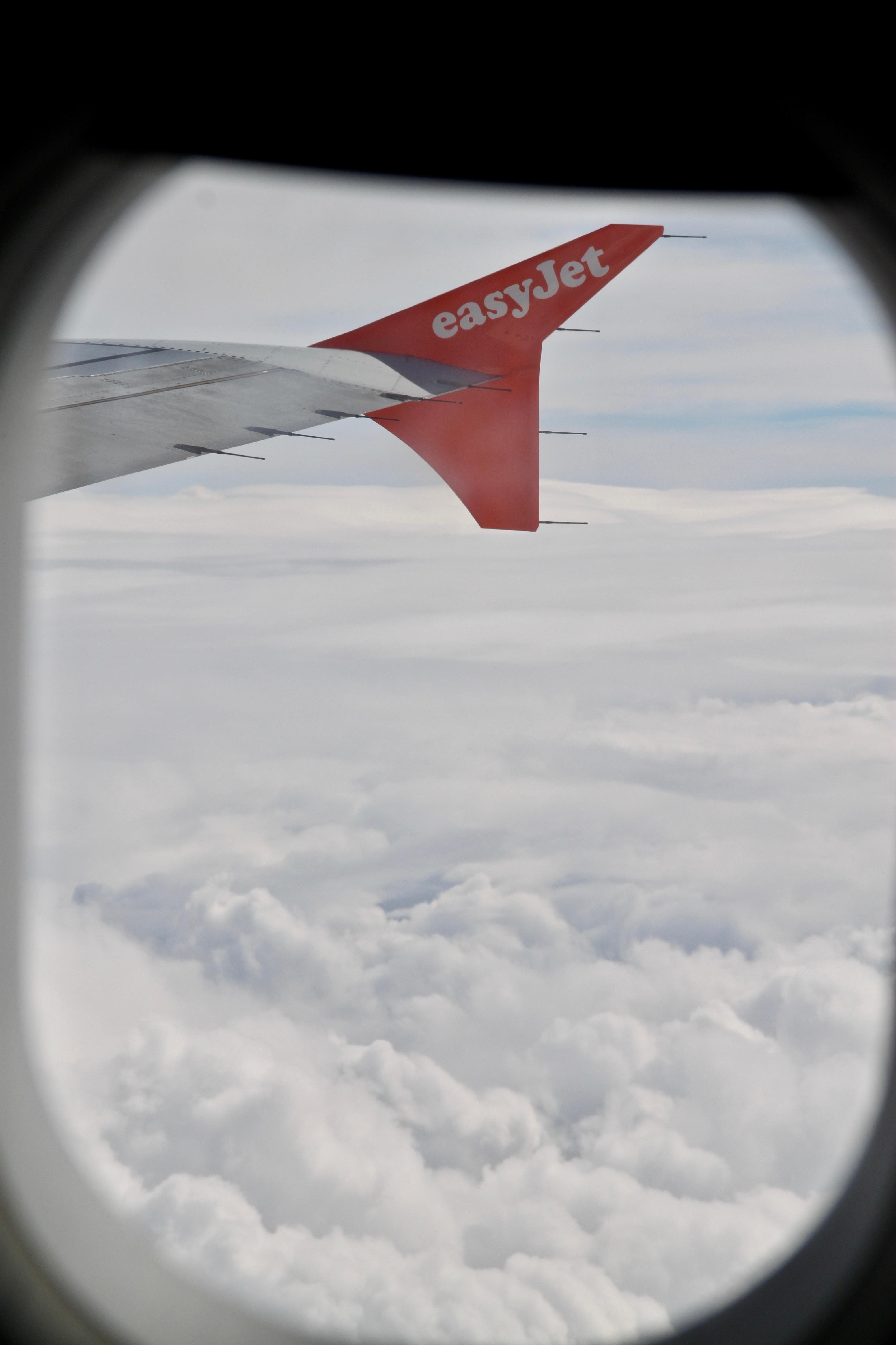 easy jet plane tail