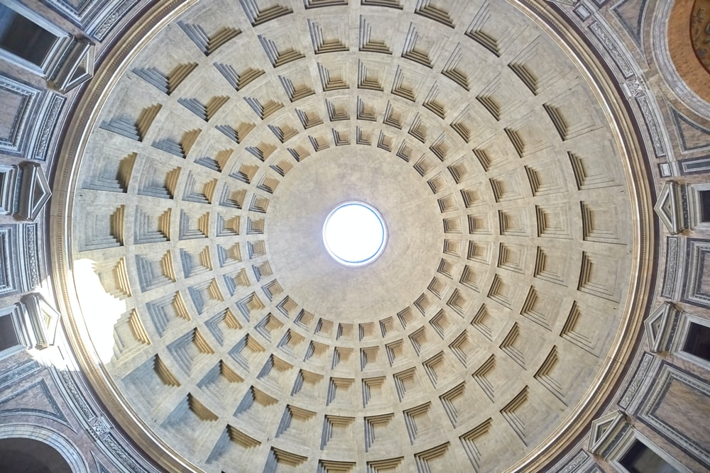 low-angle photography of dome building