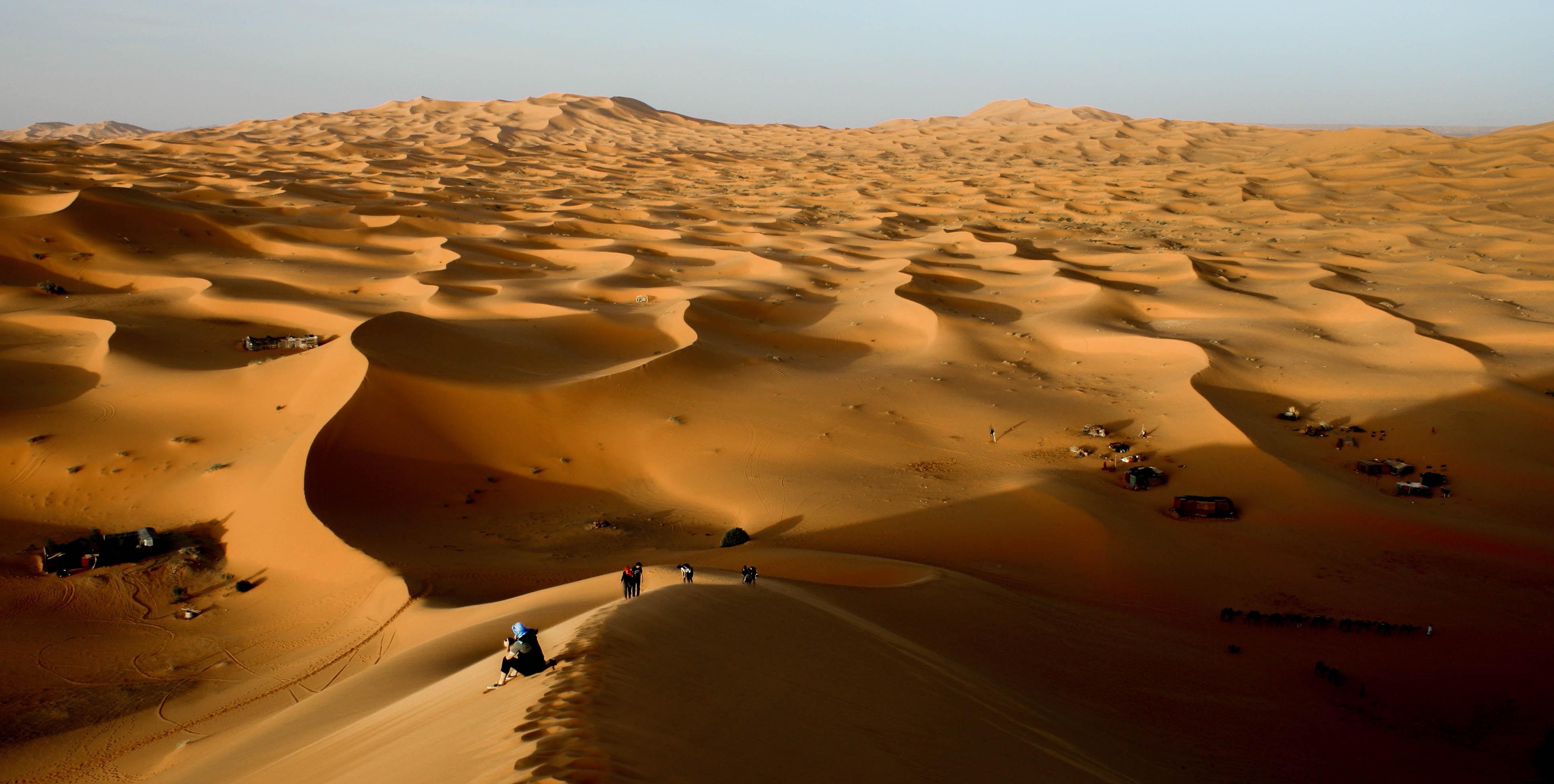 people in desert