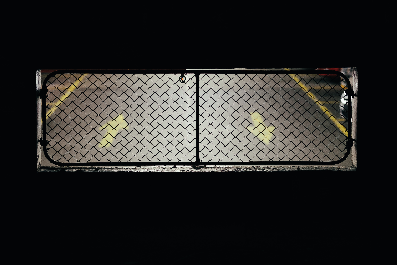 black metal grate closed