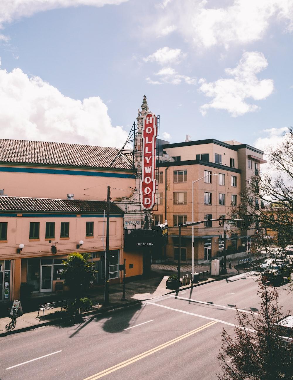 Hollywood storefront at daytime