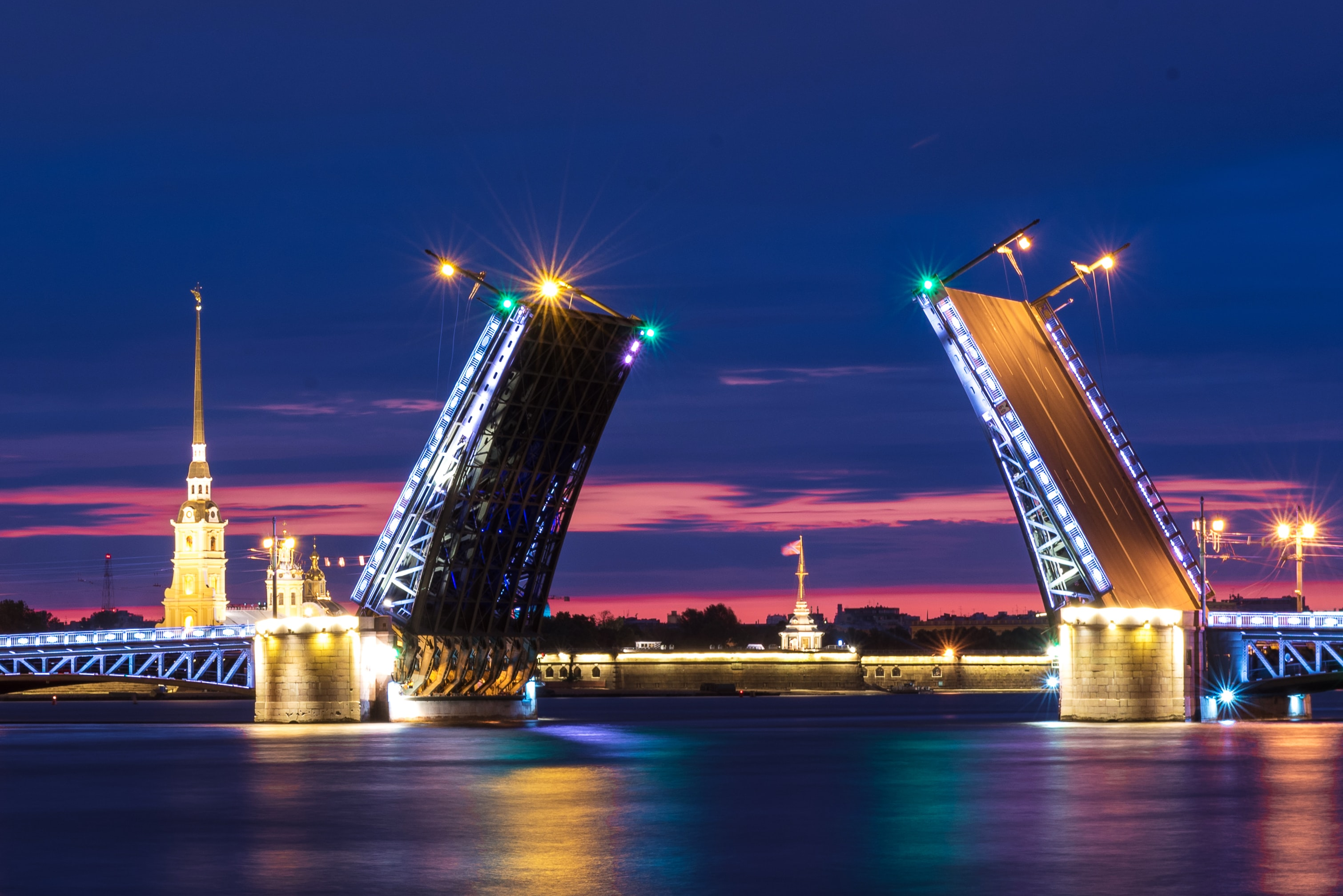 Night Time View Of St. Petersburg City - Best Places To Visit In St. Petersburg