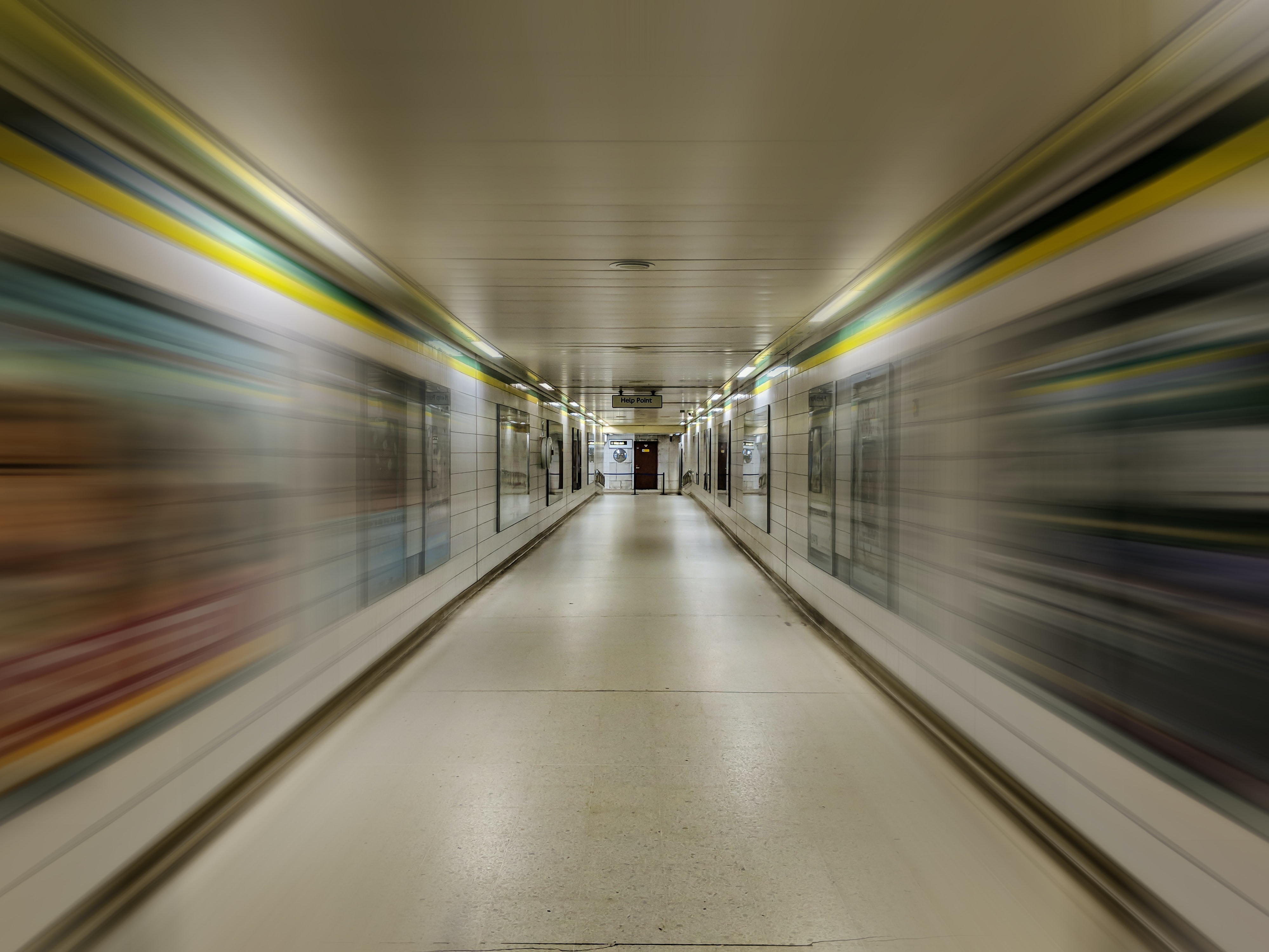 hallway in time lapse photography
