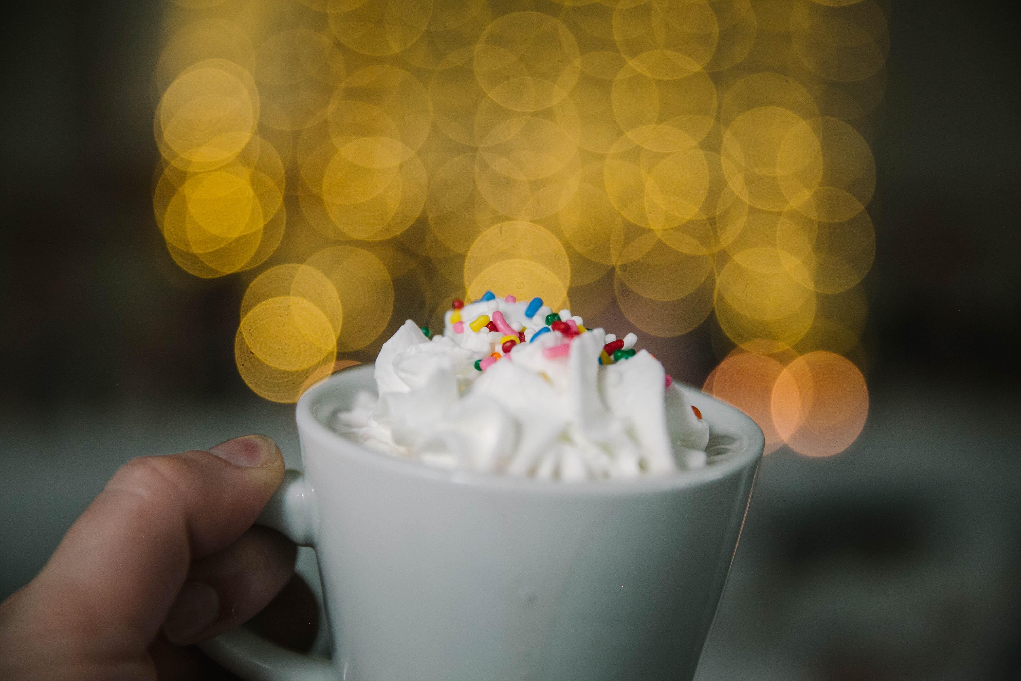 closeup photography of ice cream on mug