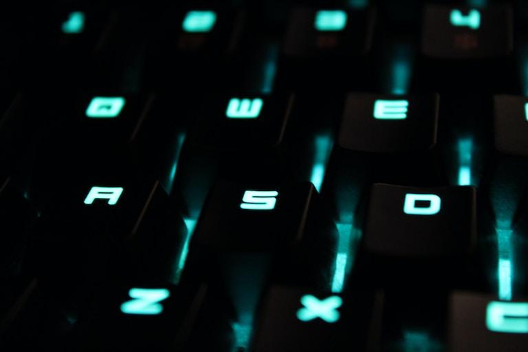 black gaming keyboard