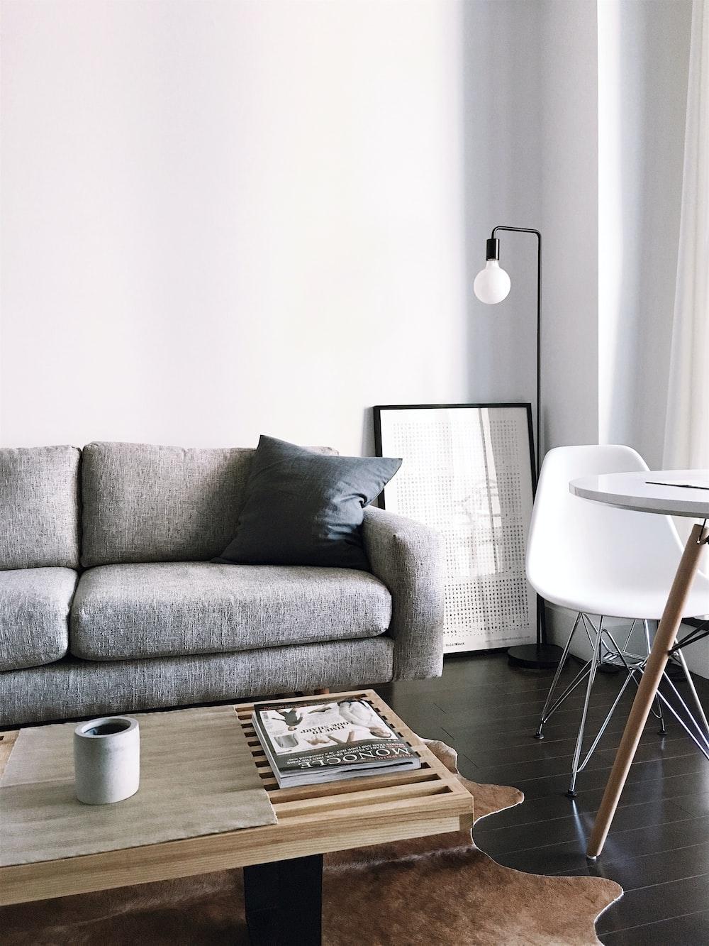 Room Design Online Free: Brown Wooden Center Table Inside Room Photo