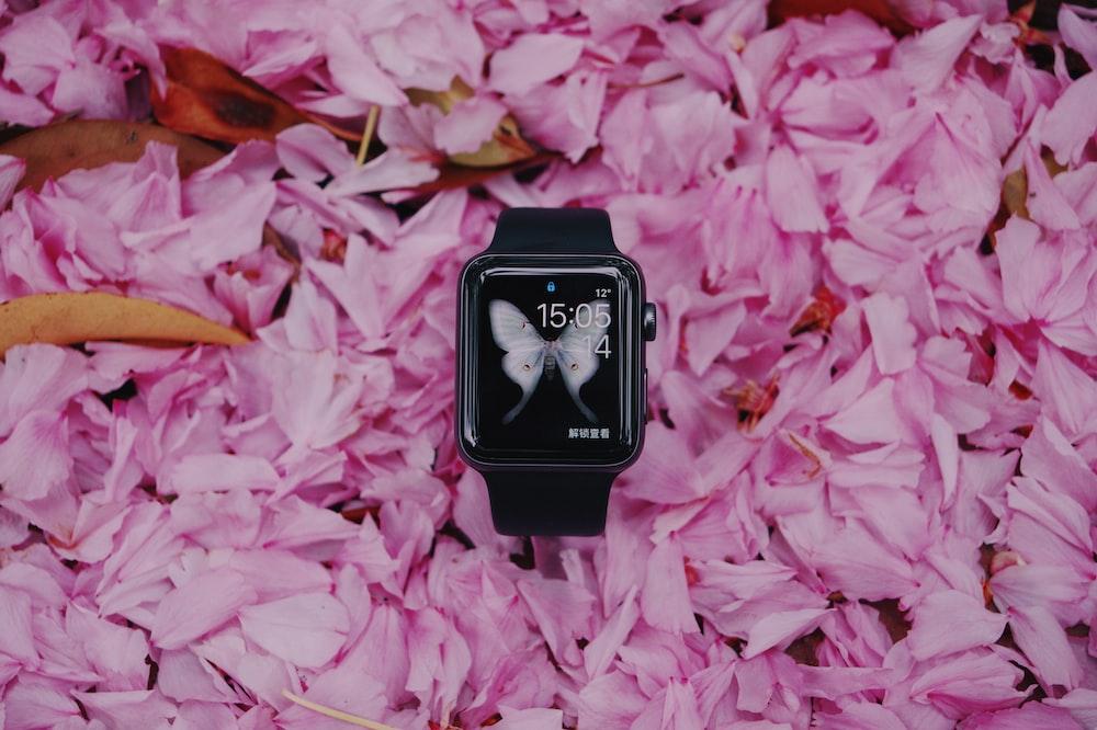 black smartwatch
