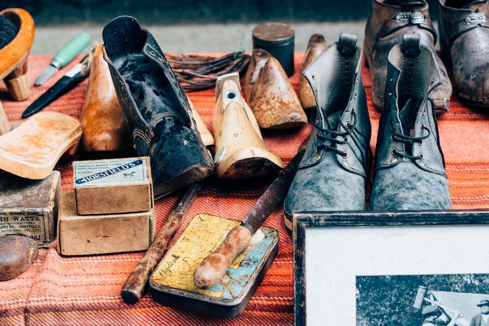 leather footwear lot