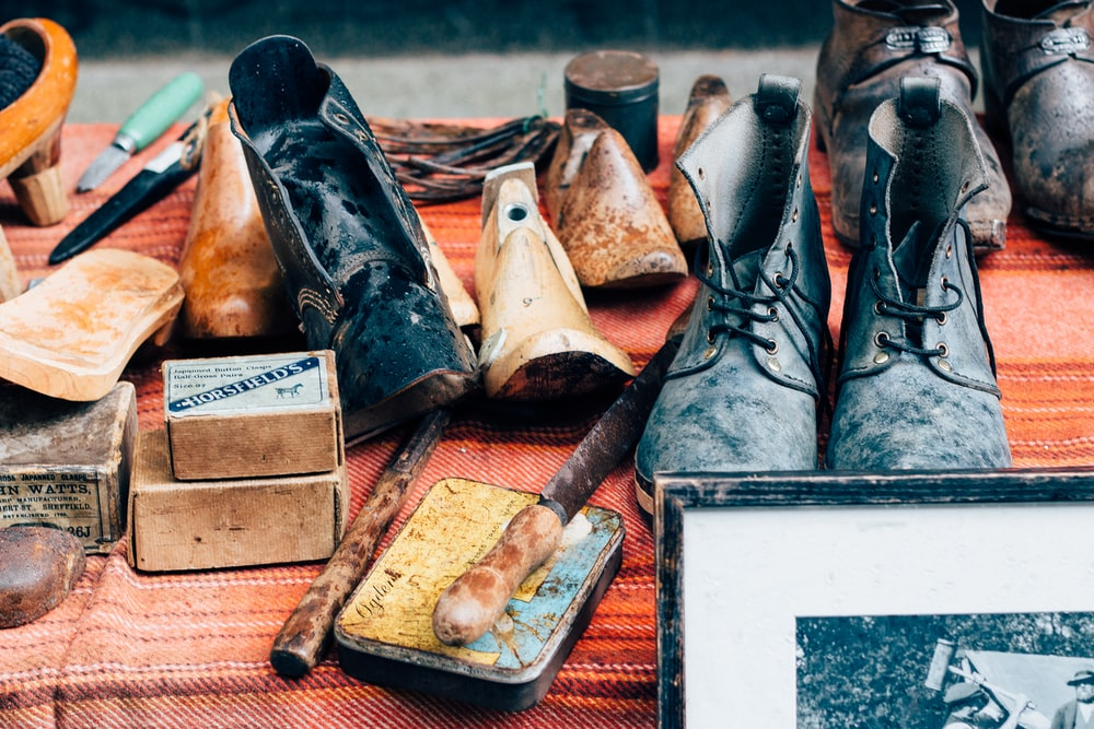leather footwear lot