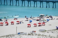 The sand on the beaches of Pensacola, FL is accurately called sugar sand. They are as white and fine as sugar. The red umbrellas add a nice pop of color. The breeze from the Gulf was perfect. Just a beautiful place to enjoy nature.
