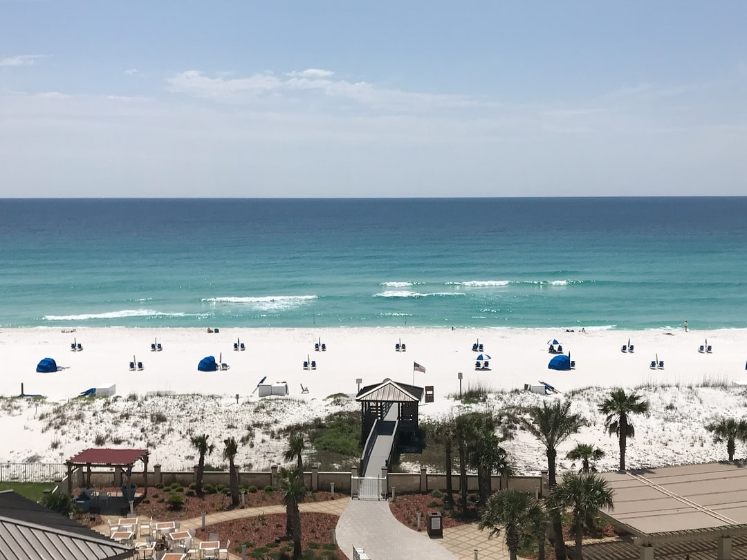 This was the view from our 6th-floor hotel window on Pensacola beach.