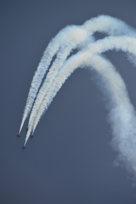 military aircraft on sky